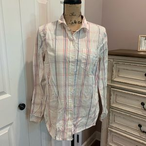 Old Navy Plaid Stripe Button Down Shirt Size Large
